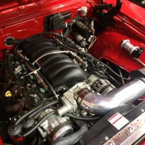Pro touring camaro engine bay