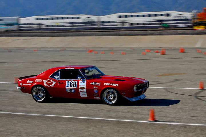 Chad Ryker 1968 Camaro classic muscle winner Saturday NMCA Hotchkis Autocross April 2017