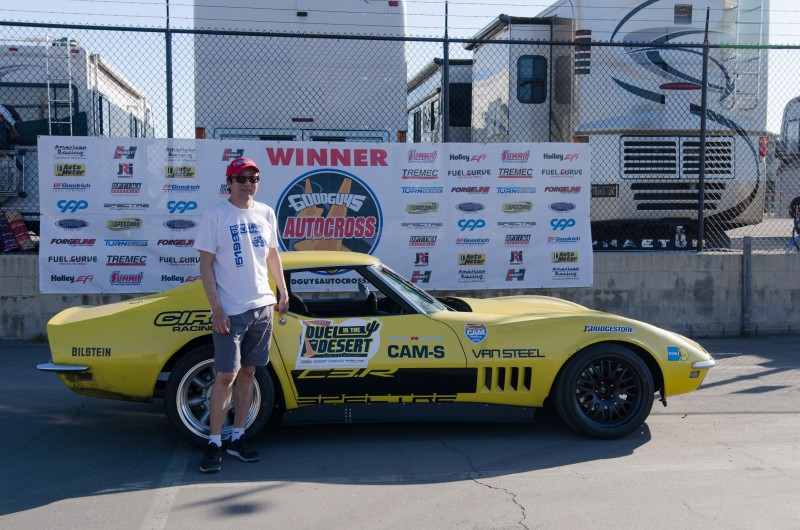 Rick Jung 1968 Corvette Street Machine Class Winner Del Mar Goodguys autocross 2017