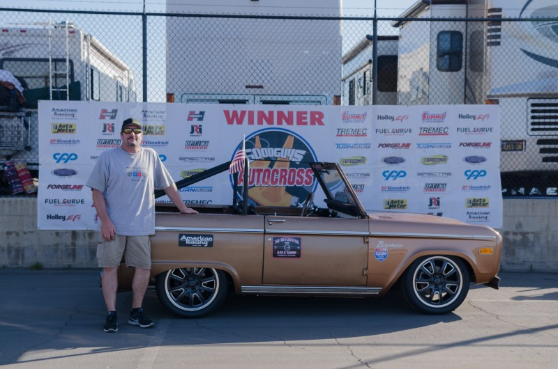 Bill Kinsman 1972 Ford Bronco Truck Class Winner Del Mar Goodguys Autocross 2017