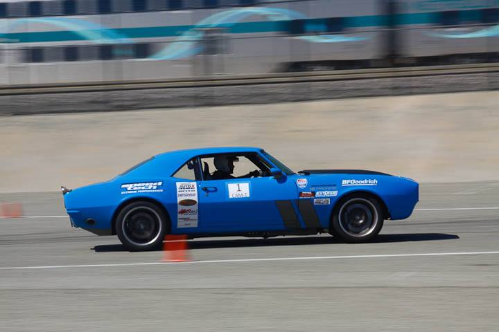 Michael Cuthbertson 1968 Camaro classic muscle class winner Sunday NMCA Hotchkis Autocross April 2017