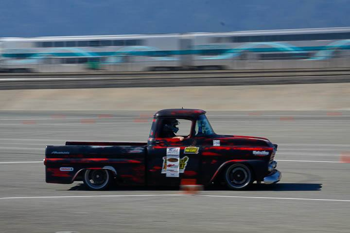 Wes Drelleshak 1959 Apache Truck Class winner Saturday NMCA Hotchkis Autocross April 2017
