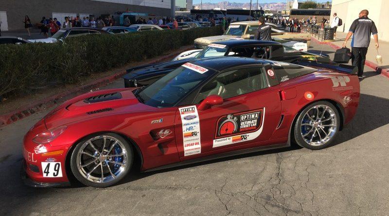 Toby Thompson 2010 Corvette ZR1 Fireball OUSCI Optima Alley SEMA