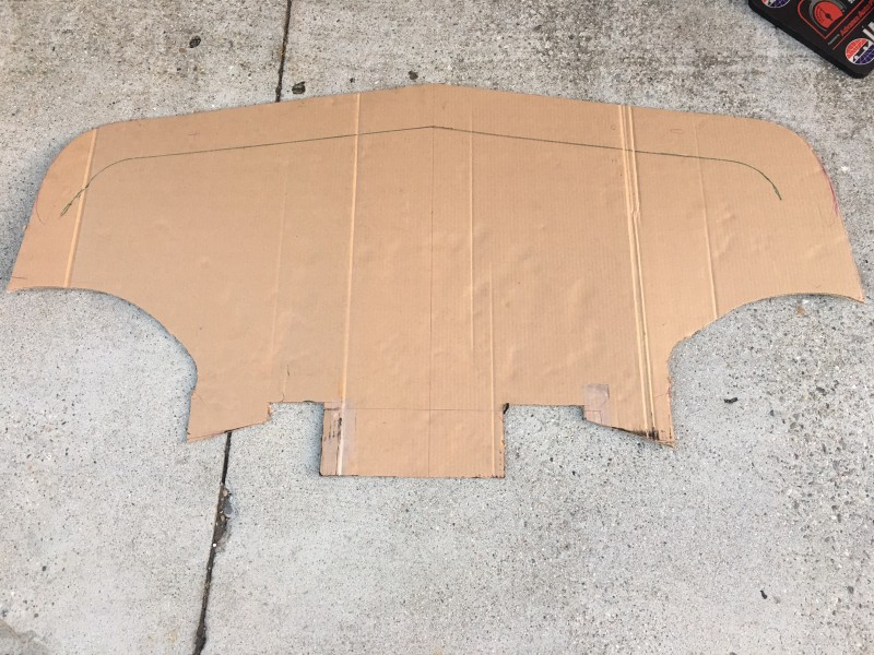 DIY splitter completed template cardboard