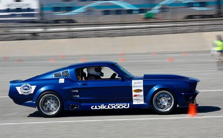 Ed Moss 1967 Mustang TCI Engineering Classic Muscle Saturday NMCA Hotchkis Autocross April 2017