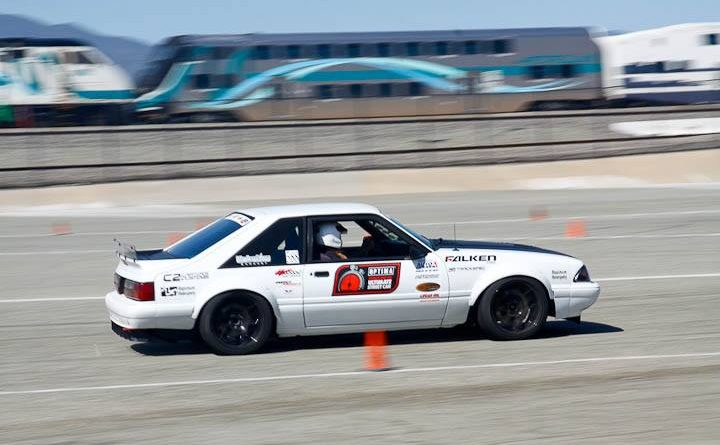 Greg Biddlingmeier 88 Mustang autoxstang 5th place modern muscle Saturday NMCA Hotchkis Autocross April 2017