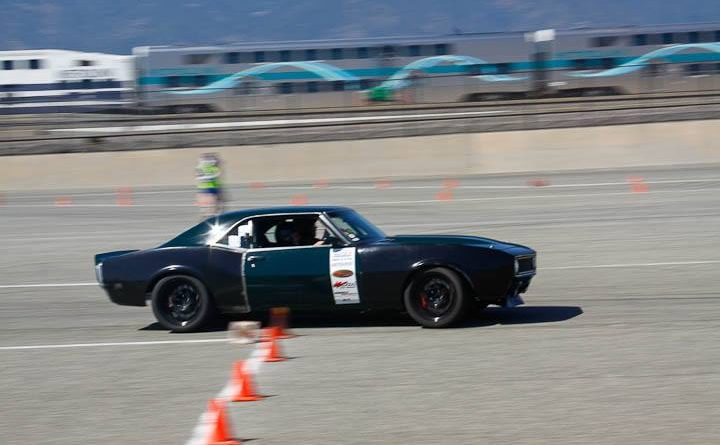Wally Logan 1968 Camaro classic muscle class NMCA Hotchkis Autocross April 2017