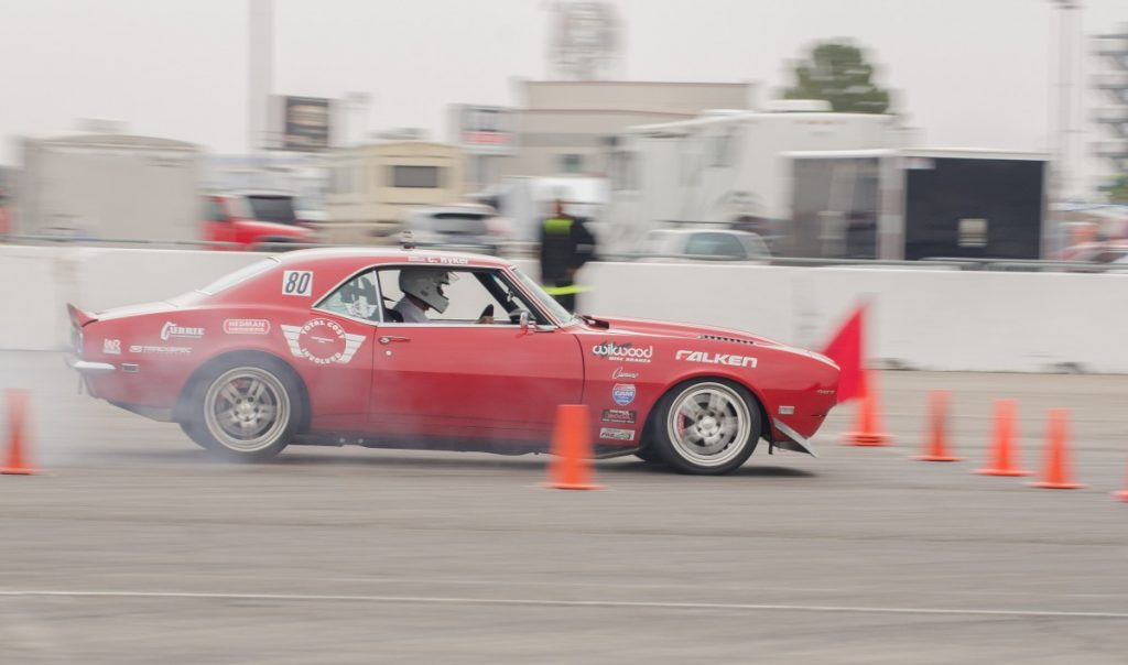 Chad Ryker 1968 Camaro LSFest West 2017 3S Challenge hard on the brakes