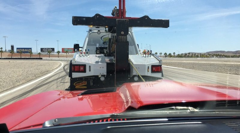 Chad Ryker 1968 Camaro towed off track LSFest West 2017