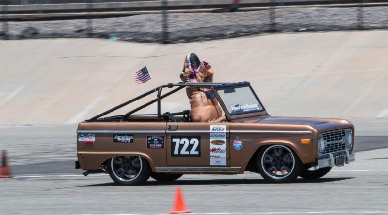 Bill Kinsman 1972 Ford Bronco T-rex NMCA West Hothckis Autocross June 2017