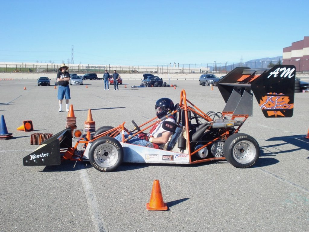 First event in car - Stacey Christopher ACME Special