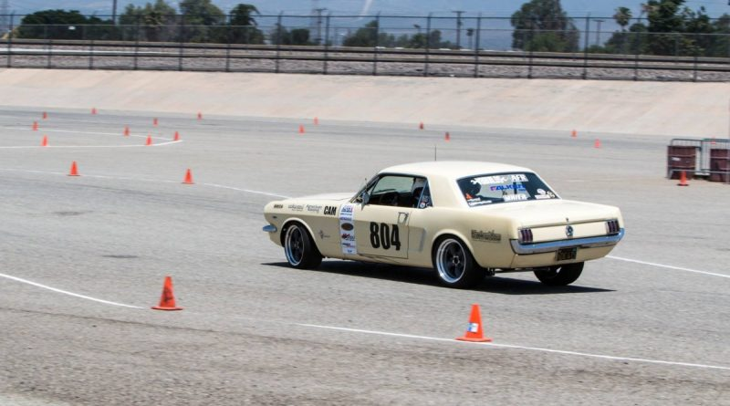 Michael Bowers Yellow 1965 Mustang NMCA West Hothckis Autocross June 2017