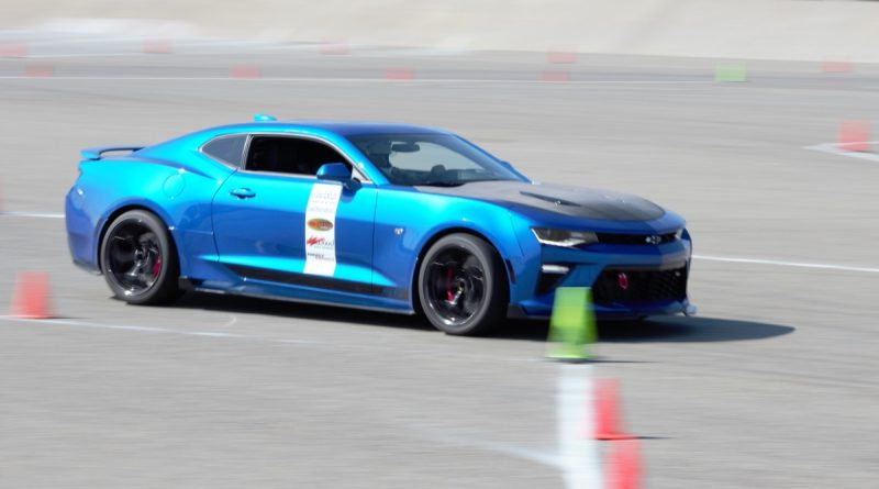 Blue Camaro NMCA West Hotchkis Autocross September 2017 speed
