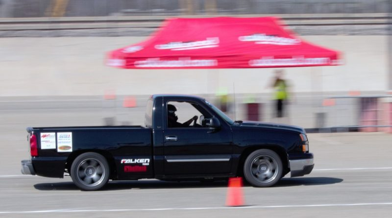 Claudia Robles 2006 Silverado Autocross truck NMCA West Hotchkis Autocross September 2017