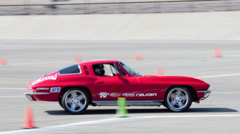 Jane Thurmond 1964 Corvette NMCA West Hotchkis Autocross September 2017 2