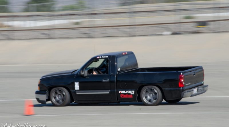Claudia Robles 2006 Silverado Saturday NMCA Hotchkis Autocross season finale October 2017