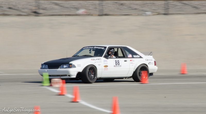 Greg Biddlingmeier 1988 Mustang Foxbody Saturday NMCA Hotchkis Autocross season finale October 2017 2