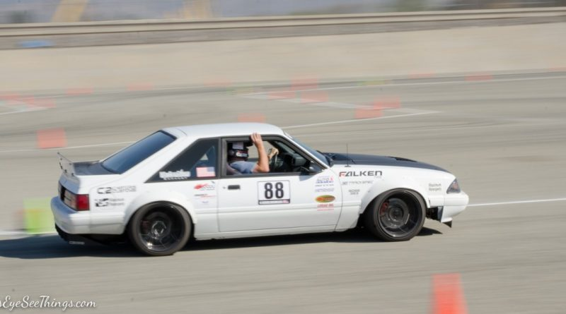 Greg Biddlingmeier 1988 Mustang Foxbody Saturday NMCA Hotchkis Autocross season finale October 2017