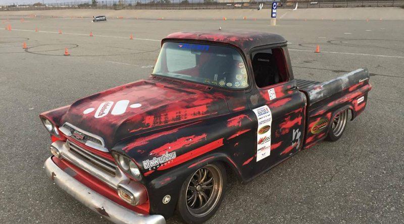 Wes Dreleshak 1959 Apache autocross truck NMCA Hotchkis Autocross season finale October 2017
