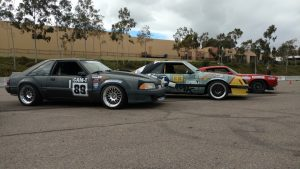 Danny Leetch Autocross Fox Body Mustang CAM Challenge pits 2