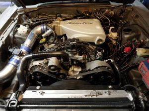 Danny Leetch Autocross Fox Body Mustang Engine compartment