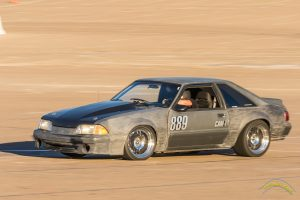 Danny Leetch Autocross Fox Body Mustang action shot 3