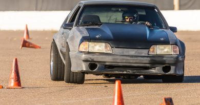 Danny Leetch Autocross Fox Body Mustang action shot