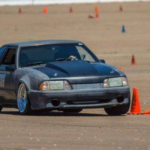 Danny Leetch Autocross Fox Body Mustang action shot 5