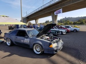 Danny Leetch Autocross Fox Body Mustang pits 1