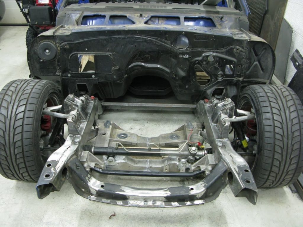 Tommy Toemmerdal C5 Z06 swapped 1967 Camaro front subframe