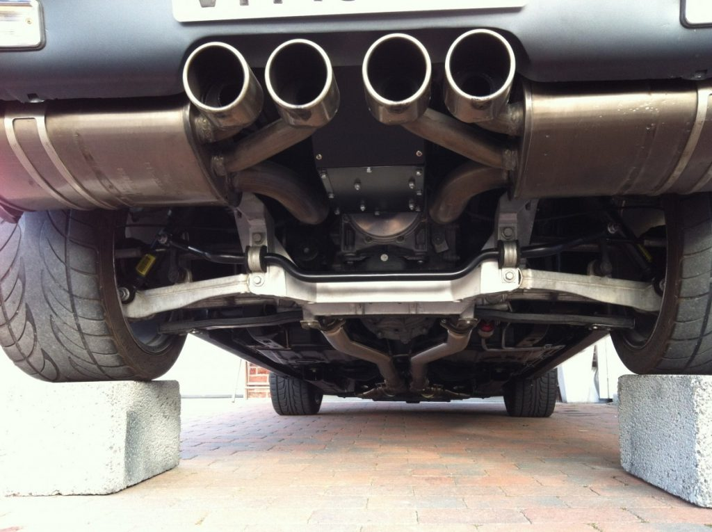 Tommy Toemmerdal C5 Z06 swapped 1967 Camaro rear IRS center exhaust