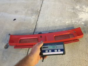 1967 1968 1969 Camaro Steel Cowl Panel weighs 5 lbs