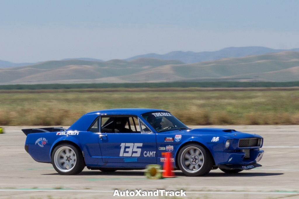 Crows Landing CAM Challenge-Mike Maier 1965 Mustang CAM-T autocross
