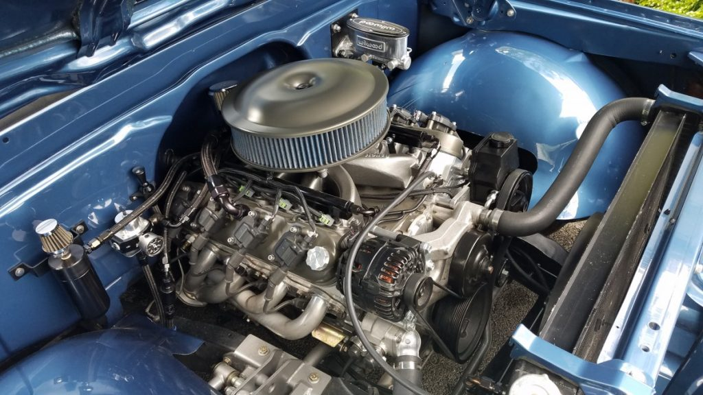 Matt Kenner LS swapped C10 engine 2