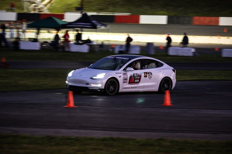 John Laughlin Tesla Model 3 Autocross UMI King of the Mountain