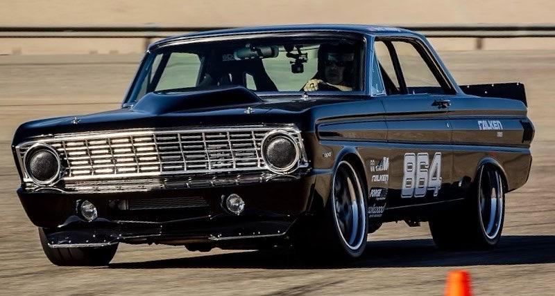 Pro Touring 1964 Ford Falcon head shot autocross