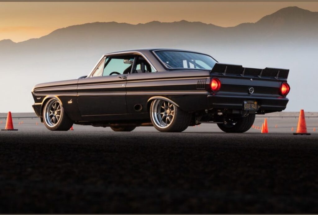 Pro Touring Ford Falcon autocross sunset